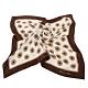 Christian Dior 星芒圓點大絲巾-咖啡色 product thumbnail 1