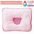 悠遊寶國際 新生兒兩用護頭型透氣枕(四方枕-甜蜜粉)