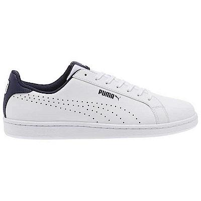 PUMA-Smash Perf C 男性復古網球運動鞋-白色