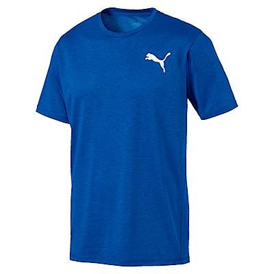 PUMA-男性訓練系列麻花短袖T恤-黑海藍(麻花)-歐規