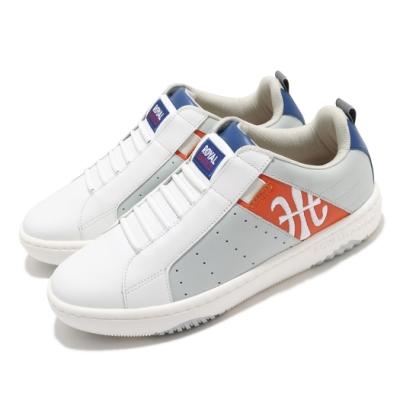 Royal Elastics 休閒鞋 Icon Manhood 2 男鞋 基本款 套腳 簡約 皮革 質感 穿搭 白 灰 06501802