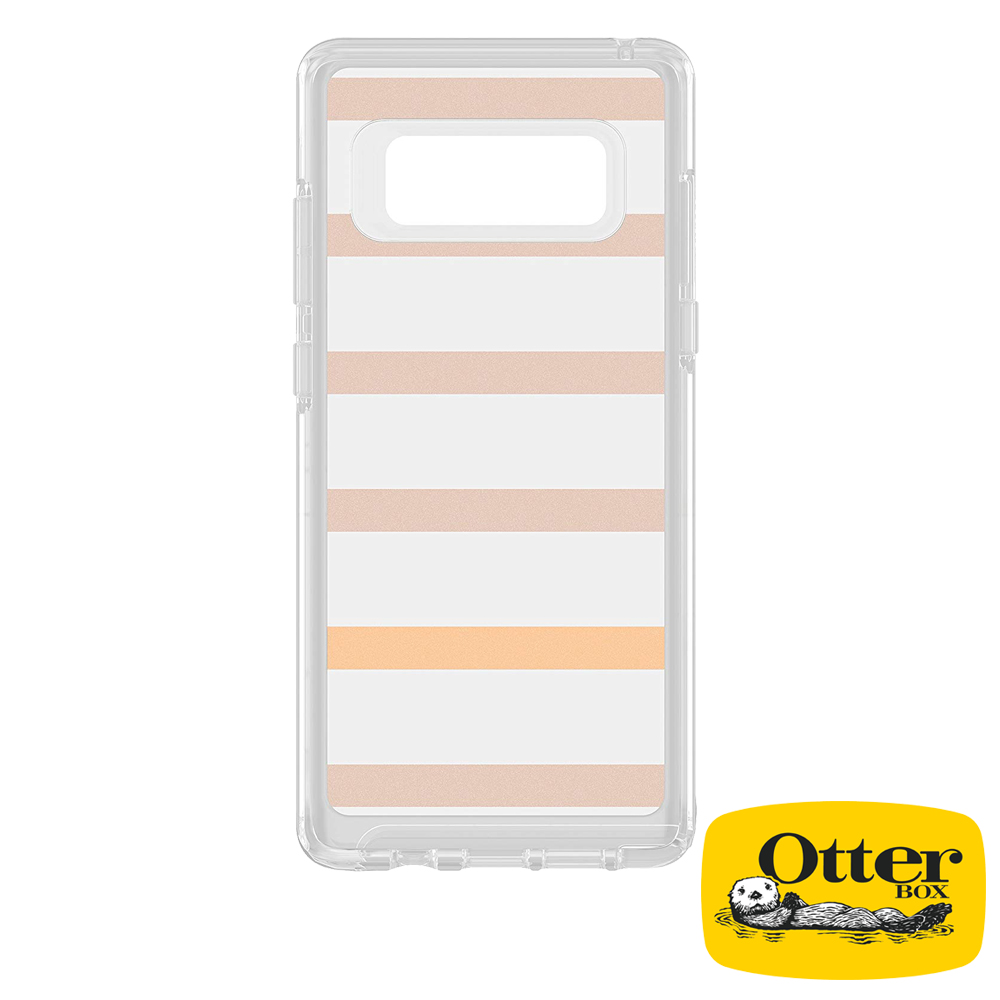 OtterBox Galaxy Note8炫彩幾何透明保護殼-霧彩條紋