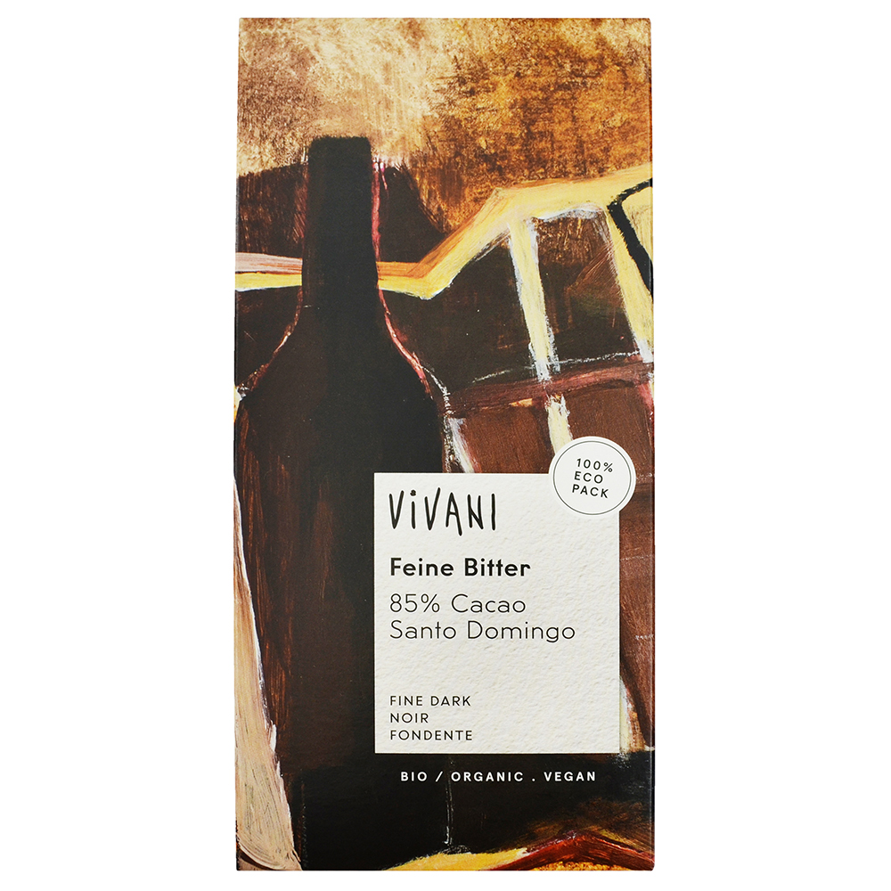 Vivani 有機85%黑巧克力片(100g)
