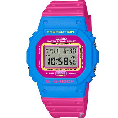 G-SHOCK 經典撞色運動錶(DW-5600TB-4B)