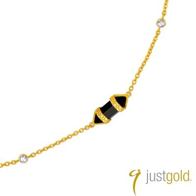 鎮金店Just Gold 黃金項鍊(24吋)-神秘魔力