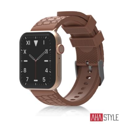 AHAStyle Apple Watch 專用運動矽膠錶帶 越野款 (42/44mm) 深褐色