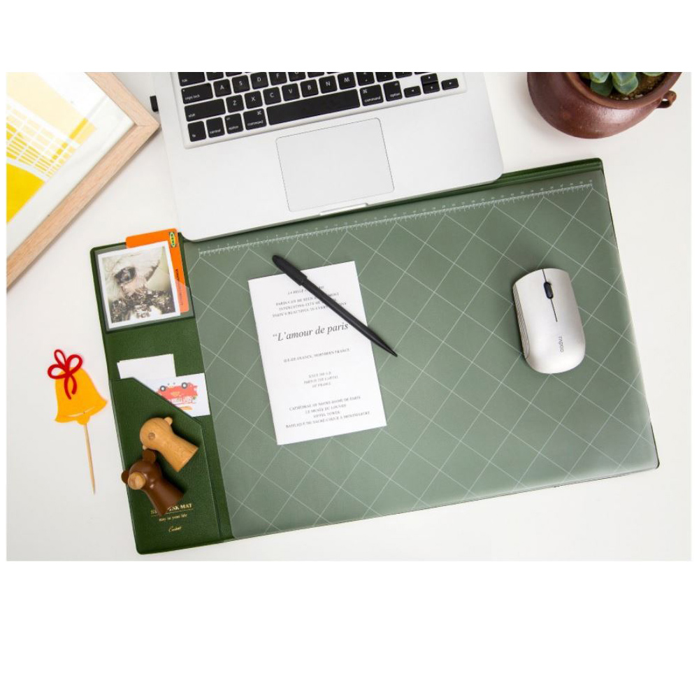 COMET 韓版超大加厚電腦桌墊(滑鼠墊)-綠(EB-E13G)
