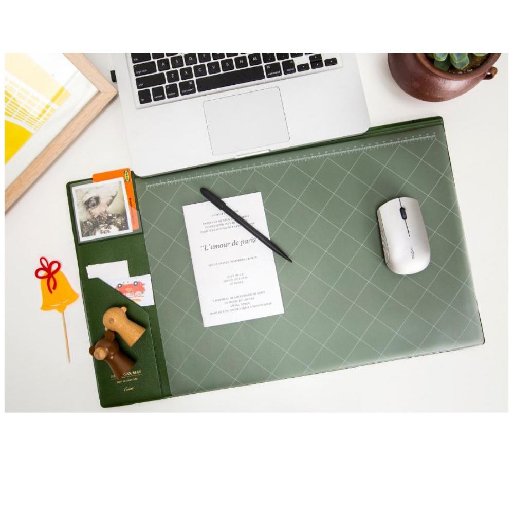 【COMET】韓版超大加厚電腦桌墊-綠(EB-E13G)