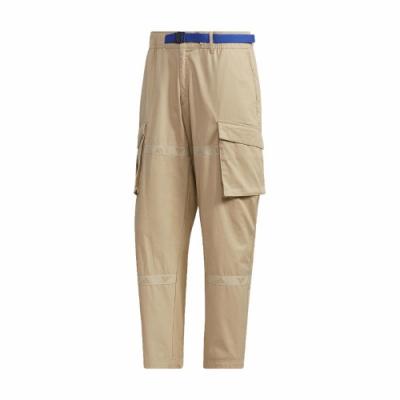 adidas 長褲 UB Cargo Pants 休閒 男款 愛迪達 工裝褲 大口袋 流行 穿搭 黃褐 藍 GL0395