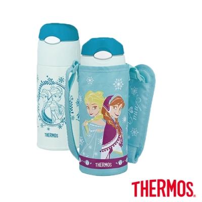 THERMOS膳魔師 不鏽鋼真空保冷瓶0.4L-冰雪奇緣(FHL-400FDS-SNW)