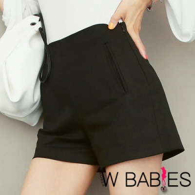 正韓 純色簡約風俐落西裝短褲 (共二色)-W BABIES
