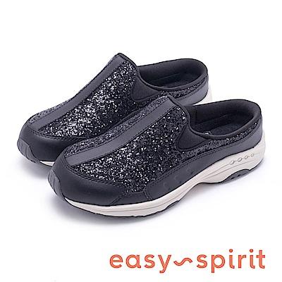 Easy Spirit TRAVELTIME332 閃耀舒適時尚運動休閒鞋-黑色