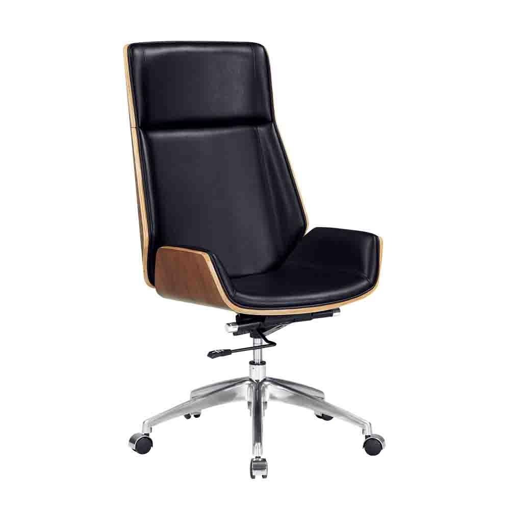 柏蒂家居-韋斯特曲木皮革電腦椅/主管辦公椅-高款-58x51x110~116cm