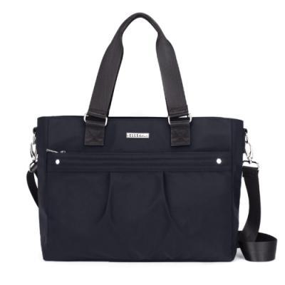 ELLE Active 知性優雅系列-托特包/肩背包/購物袋-黑色