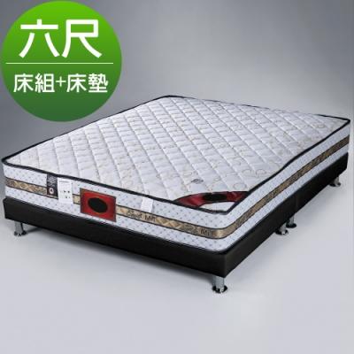 Homelike 席拉二線3M防潑水獨立筒床組-雙人加大6尺(二色)