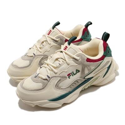 Fila 休閒鞋 Skipper 運動 女鞋 斐樂 簡約 球鞋 穿搭 復古 反光 米白 灰 4J528U940