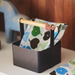 【收納職人】北歐簡約時尚鐵製木棍手提收納盒_咖啡色