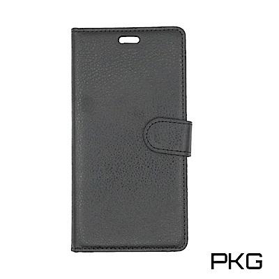 PKG OPPO R11S 側翻式皮套-經典皮套系列-黑