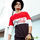 bossini男裝-CocaCola撞色印花T恤紅