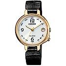 CITIZEN 星辰 藍芽 皮革氣質腕錶-黑(EE4022-16A)