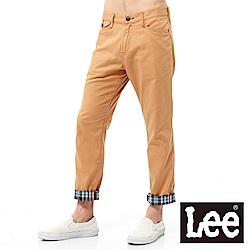 Lee 中腰修身格紋休閒褲