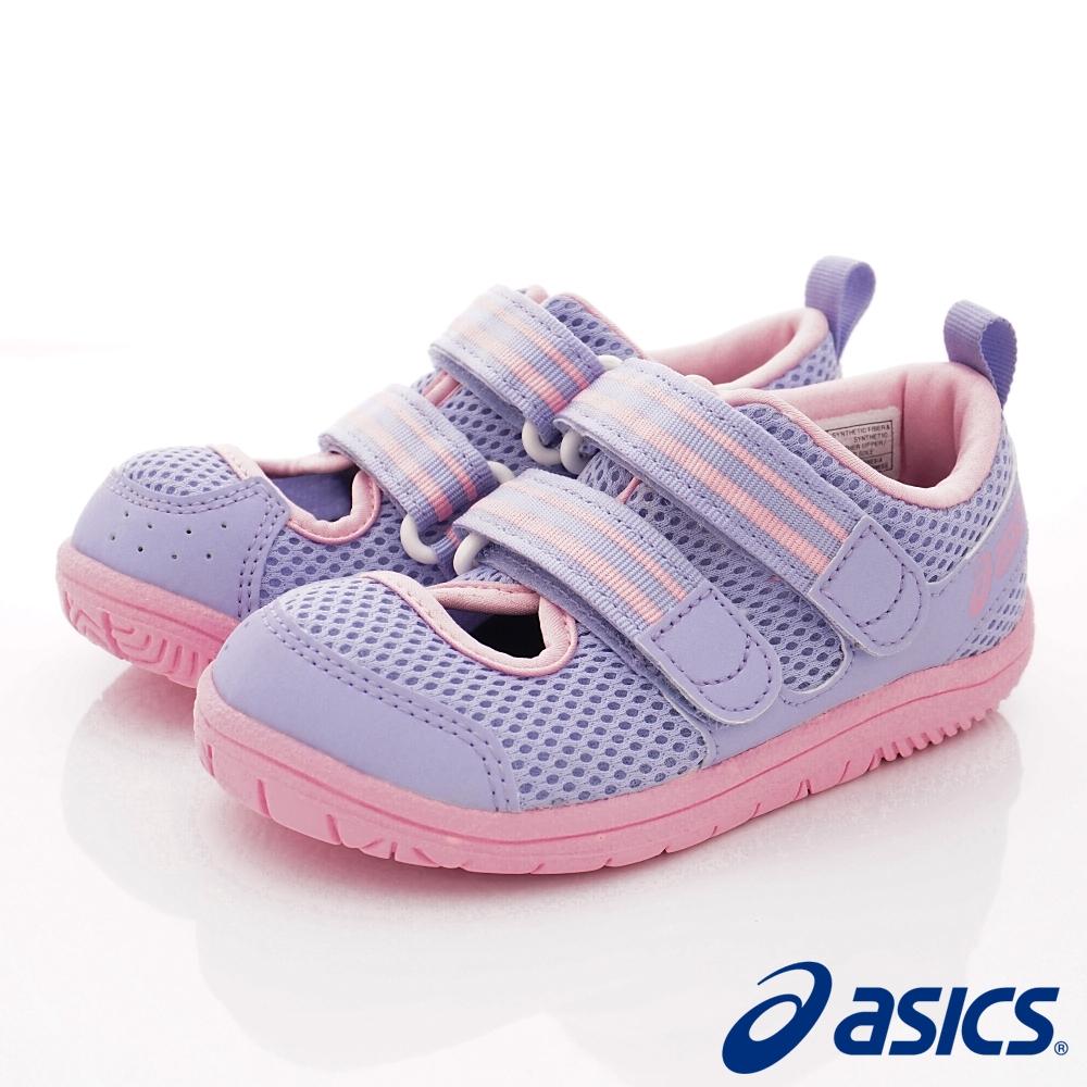 asics競速童鞋 雙絆帶透氣休閒款-121-500紫(小童段)