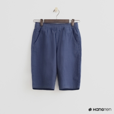 Hang Ten- 青少童裝-型男直條紋短褲-藍