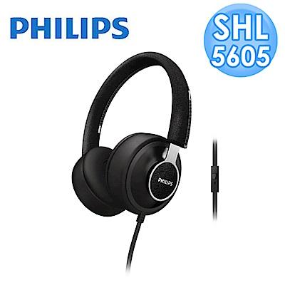 【福利品】PHILIPS Foldie SHL5605頭戴式耳機(黑色)