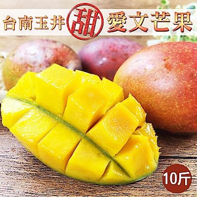 林家水果城 台南玉井直送愛文芒果(10斤/箱)