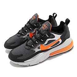 Nike 休閒鞋 Air Max 270 React 男鞋 氣墊 避震 舒適 簡約 球鞋 穿搭 黑 橘 CQ4598084