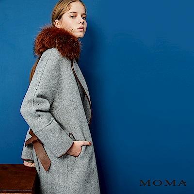 MOMA 山脊紋雙面毛料大衣