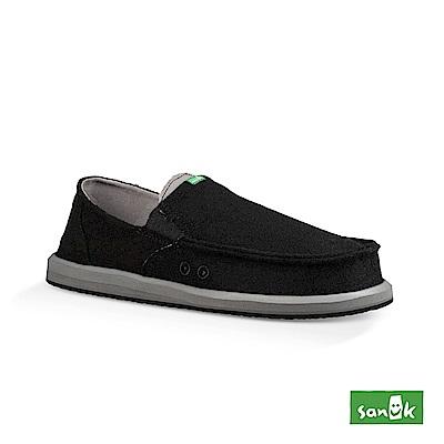 SANUK PICK POCKET FELT 羊毛口袋寬版懶人鞋-男款(黑色)