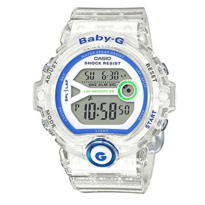 BABY-G 熱血女孩繽紛果凍系列運動錶(BG-6903-7DDR)/45mm