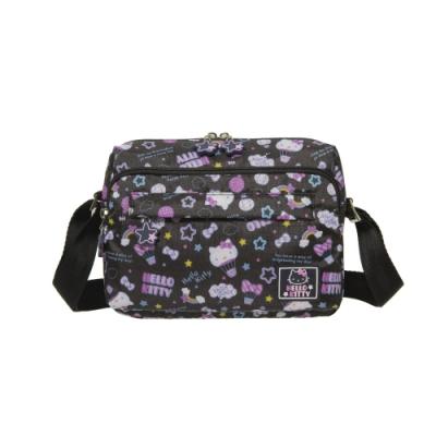 【Hello Kitty】悠遊星空-側背包-小-黑 KT01Q01BK