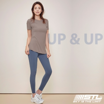 STL yoga legging UP&UP 9 韓國 運動機能 超高腰 拉提訓練 緊身長褲 瑜珈/重訓/路跑/登山 霧霾藍DustyBlue