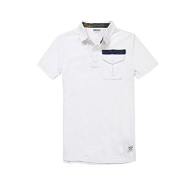 Timberland 男款白色迷彩印花短袖POLO衫|A1LZB100
