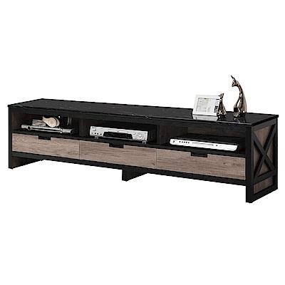 文創集 普爾時尚5尺雲紋石面電視櫃/視聽櫃-151x40.5x48.5cm-免組