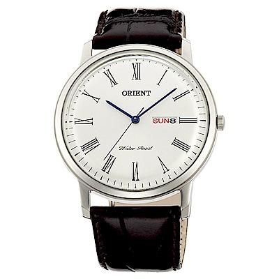ORIENT  紳士魅力石英腕錶(FUG1R009W6)-白面x40mm