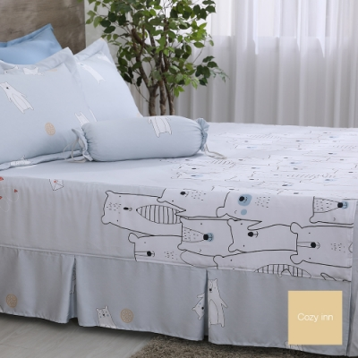 Cozy inn 萌熊假期 加大 100%萊賽爾天絲枕套床包組
