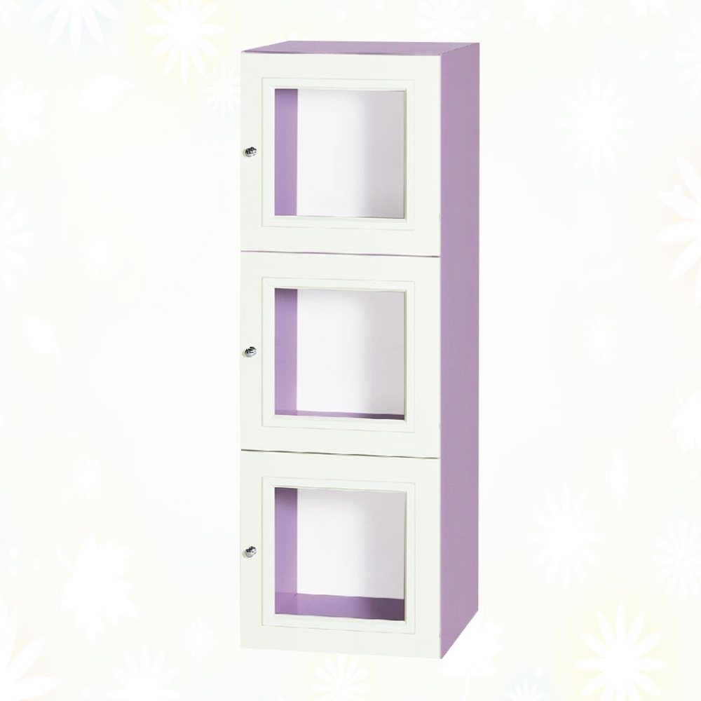 文創集 克爾 環保1.3尺南亞塑鋼三開門三層格中置物櫃/收納櫃-40.4x41.5x121.2cm免組