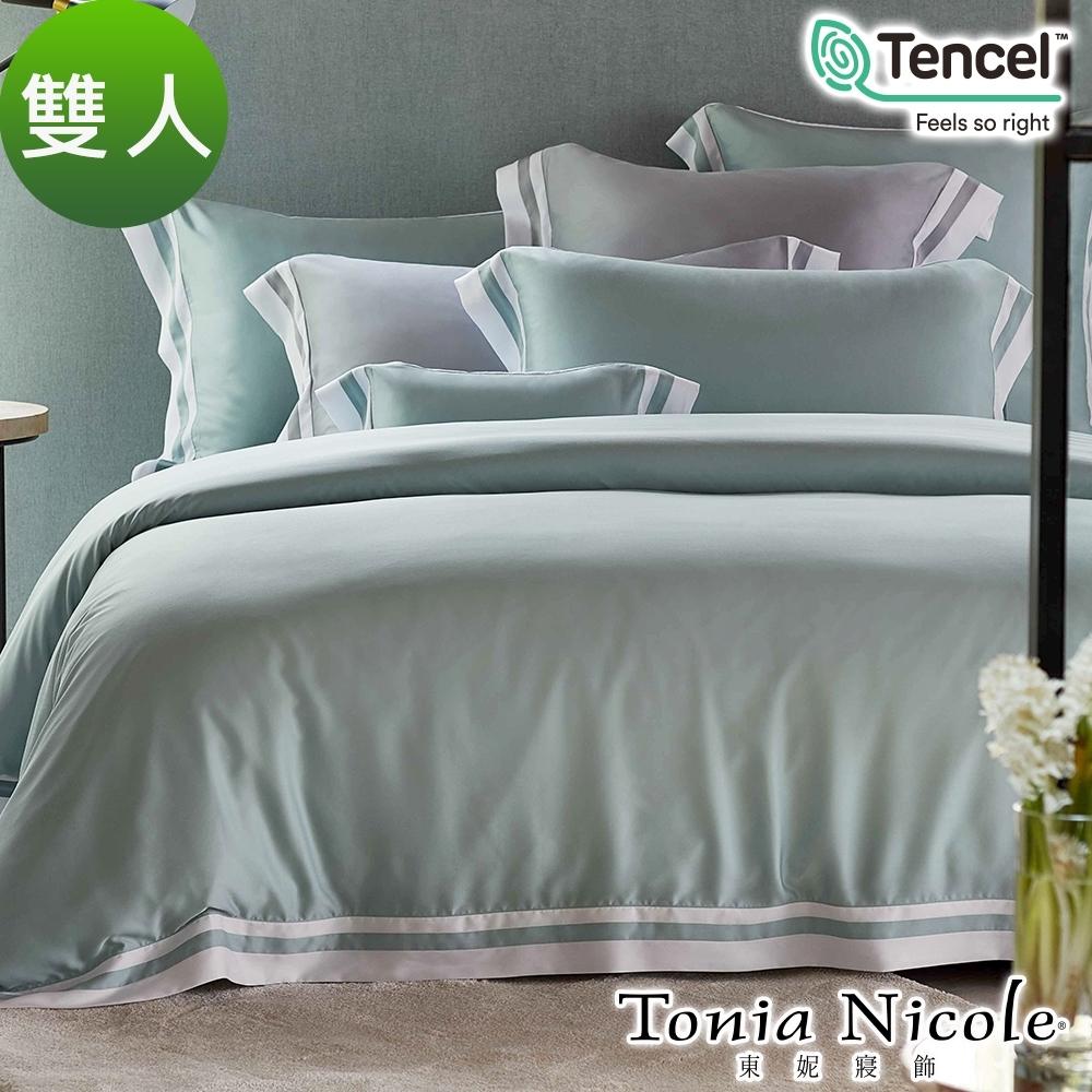 Tonia Nicole東妮寢飾 西雅圖綠霧環保印染100%萊賽爾天絲被套床包組(雙人)