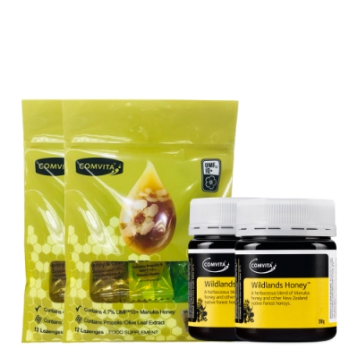 (買一送一)康維他麥蘆卡野地蜂蜜+綜合潤喉糖組 市價2520