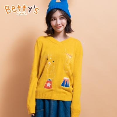 betty's貝蒂思 小貝羊繡線毛衣(黃色)