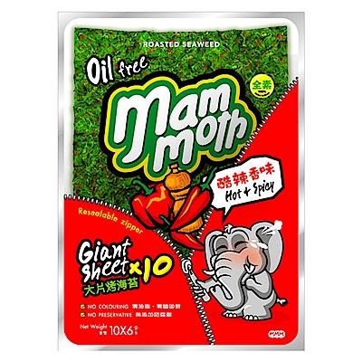 MM象 泰式烤海苔-酷辣香味(6gx10片)