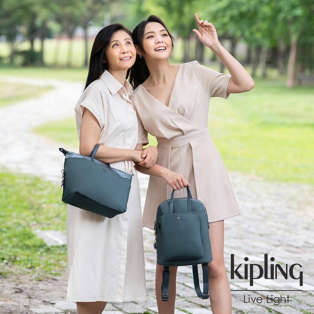 Kipling 典雅石灰藍簡約手提肩背托特包-KALA MINI