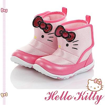 HelloKitty童鞋 保暖輕量減壓抗菌防臭高筒靴-粉