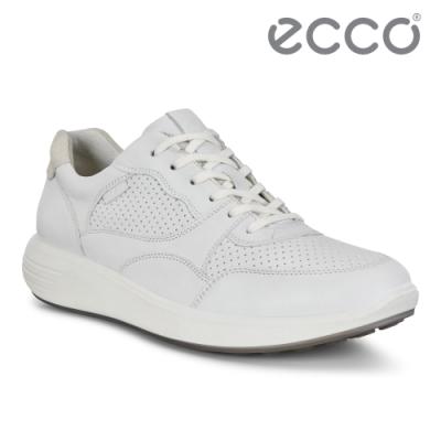 ECCO SOFT 7 RUNNER W 時尚運動風休閒鞋 女-白
