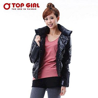 【TOP GIRL】立領雙排釦羽絨外套 -  神秘黑