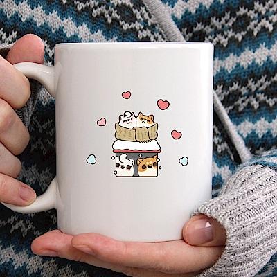 itaste小品味-米柴犬隨意貼-阿瓦冬季 7.5cm*11cm