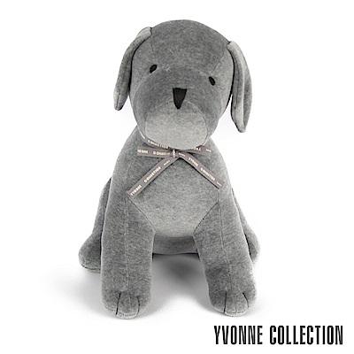 Yvonne Collection 旺旺狗玩偶抱枕-經典灰